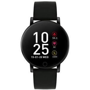 Series 5 Black Silicone Smart Watch