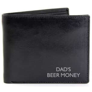 Personalised Black Message Wallet