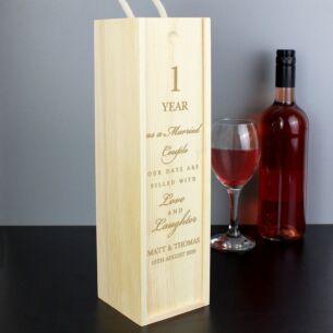 Personalised Anniversary Bottle Presentation Box