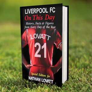 Personalised Liverpool FC On This Day Hardback Book