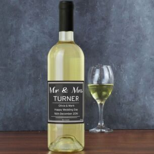 Personalised Bottle of Classic White Wine