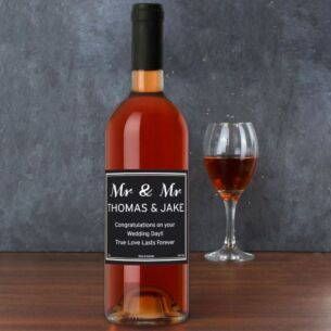 Personalised Bottle of Classic Rose Wine