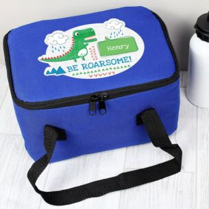 Personalised 'Be Roarsome' Dinosaur Lunch Bag