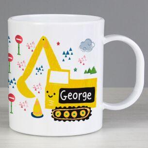 Personalised Plastic Digger Mug