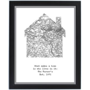 Personalised 1805 - 1874 Home Map Framed Print