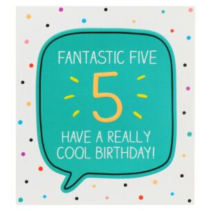 'Fantastic Five Cool Birthday!' Card