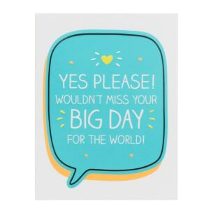 RSVP 'Yes Please! Big Day' Mini Card