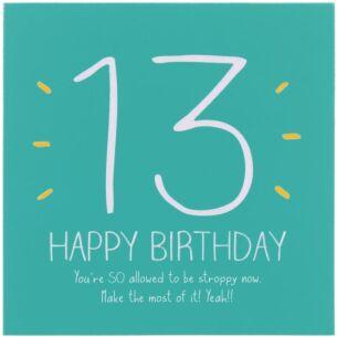 13th Happy Birthday! Card