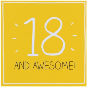 18 & Awesome! Card
