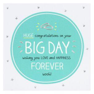 'Big Day' Wedding Card