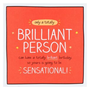 'Totally Brilliant Person' Birthday Card