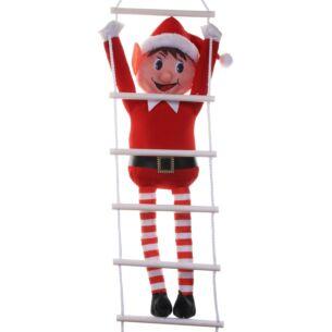 Elves Behavin' Badly Elf on a Ladder Hanging Decoration