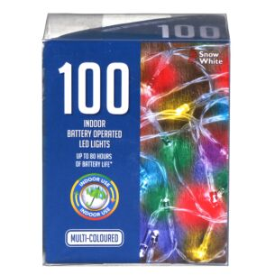 100 Multi-coloured Battery Operated LED Christmas Lights