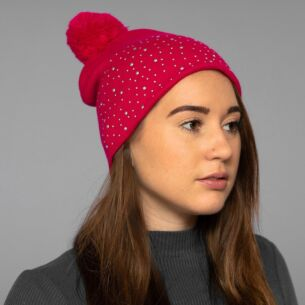 Pink Diamond Bobble Hat