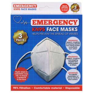 KN95 Face Masks – 3 Pack
