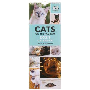 Cats On Instagram 2021 Slim Calendar