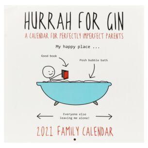 Hurrah for Gin 2021 Family Square Wall Calendar