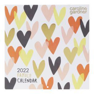 'Hearts' Square 2022 Family Calendar