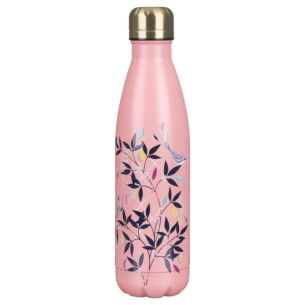 Coral Orchard Birds Insulated Water Bottle