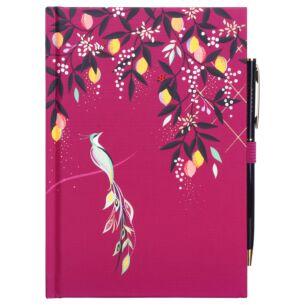 Mauve Orchard Birds B6 Notebook & Pen