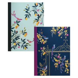 Set of Two Orchard Birds A5 Notebooks