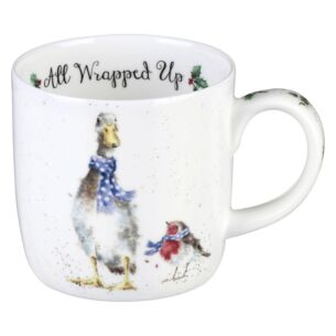 Wrendale 'All Wrapped Up' Goose Mug from Royal Worcester