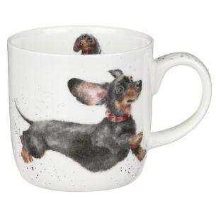 'Friday Feeling' Dachshund Mug from Royal Worcester