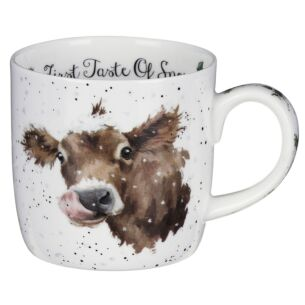 'First Taste Of Snow' Cow MugFrom Royal Worcester