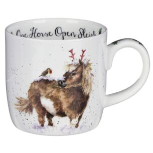 'One Horse Open Sleigh' Horse MugFrom Royal Worcester