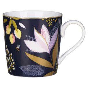 Navy Orchard Floral Boxed Mug