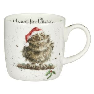 Wrendale 'Owl I Want For Christmas' Owl Mug