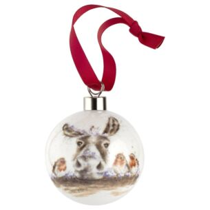 Wrendale The Christmas Donkey Christmas Bauble from Royal Worcester