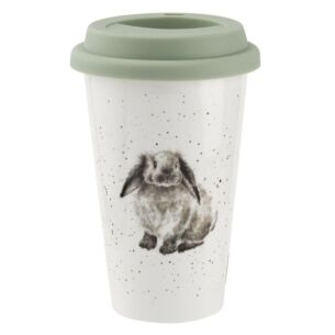 Wrendale Rabbit Porcelain Travel Mug from Royal Worcester