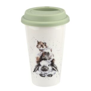 Piggy In The Middle Porcelain Travel Mug from Royal Worcester
