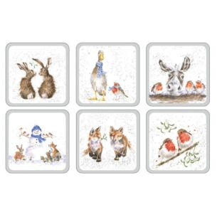 Set of Six Christmas Coasters
