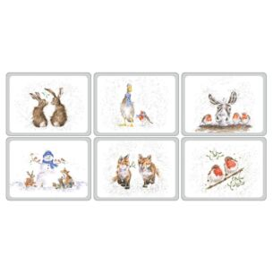 Set of Six Christmas Placemats