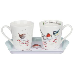 One Snowy Day 3pc Xmas Mug and Tray Set
