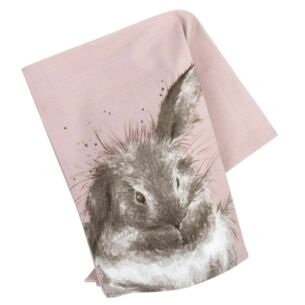 Tea Towel Pink Rabbit
