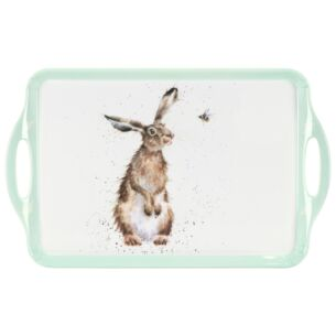 'Hare & A Bee' Large Handled Tray