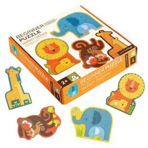 Petit Collage Beginner Puzzle – Safari Babies
