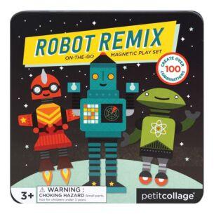 Petit Collage Robot Remix Magnetic Play Set