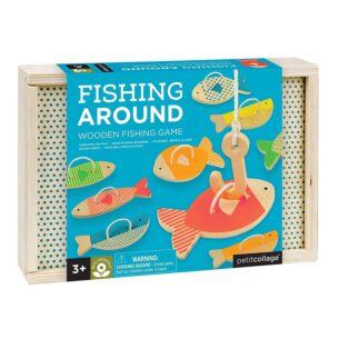 Petit Collage Fishing Around Wooden Fishing Game