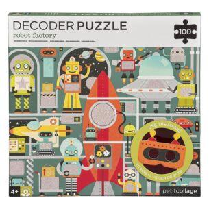 Petit Collage Robot Factory Decoder Puzzle