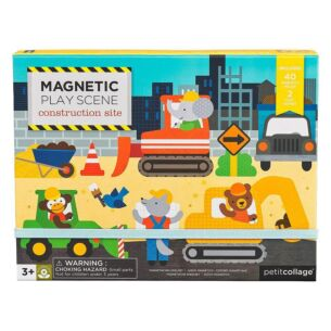 Petit Collage Magnetic Play Scene – Construction Site