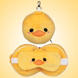 Resteazzz Cutiemals Ducks Travel Pillow & Eye Mask