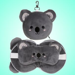 Resteazzz Cutiemals Koala Travel Pillow & Eye Mask