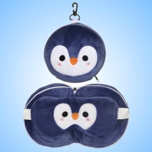 Resteazzz Cutiemals Penguin Travel Pillow & Eye Mask