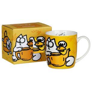 Simon's Cat Orange Porcelain Mug