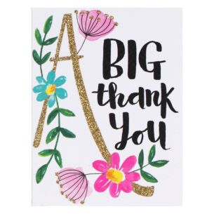 Set of 5 'Flowers' Thank You Notecards