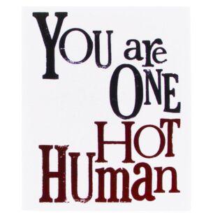 One Hot Human Valentine's Card